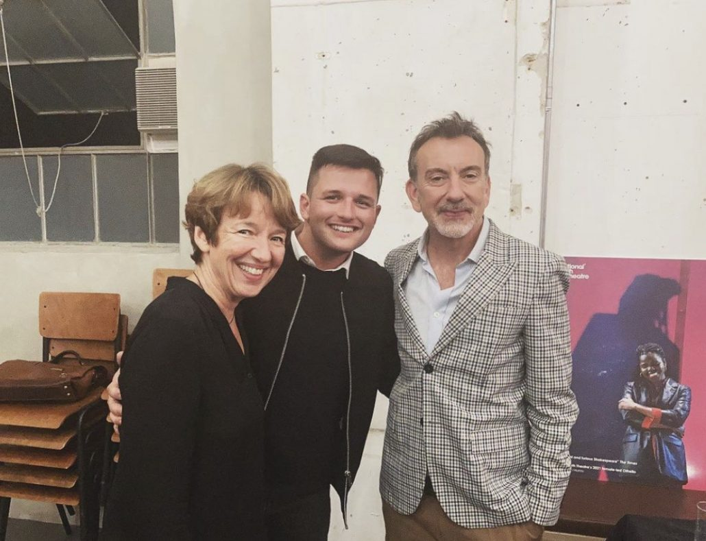With National Youth Theatre Chair Dawn Airey and Artistic Director Paul Roseby